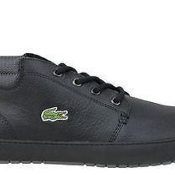 Lacoste Mens Shoes Ampthill Terra TWD2 Black Leather