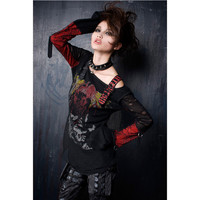 Aliexpress.com : Buy Punk Rave Womens Gothic Cardigan Tee Shirt Top Visual Kei Printed fashion S XXL from Reliable punk rave women suppliers on Punk Rave Store