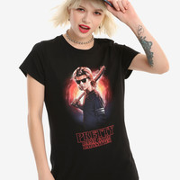 Stranger Things Babysitter Steve Girls T-Shirt