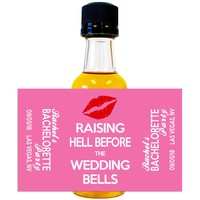 Bachelorette Party - Wedding Mini Bottle Labels