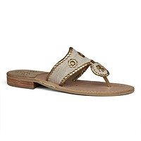Isla Sandal in Ecru & Gold by Jack Rogers