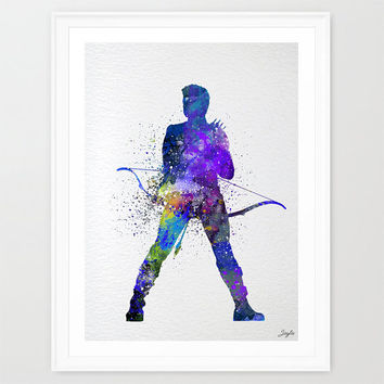 Hawkeye Watercolor Art Print,Avengers Poster,Wall Art Hanging,Home Decor,Boys/Girls Room Art,Motivational/Inspirational Print, #224
