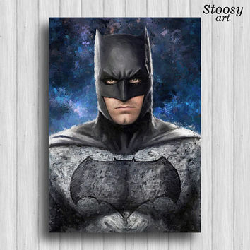 batman print dc comics super hero poster batman art