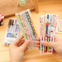 A Set Of Pens Stationery Cute Gel Pen School Supply Office Hello text marker Kitty Gift Handles Colorful Colored Starry sky Cat