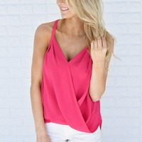 Lucky Tank Top ~ Hot Pink