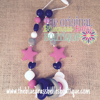 Silicone teething necklace - teething  necklace for mom to wear - safety breakaway clasp - chemical free teething necklace