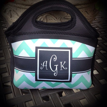 Customized / Monogrammed Lunch Tote  Lunchbox by SassySouthernGals