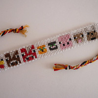 Minecraft Animals Friendship Bracelet