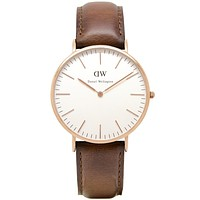 Men's Classic St Mawes Watch in Rose Gold by Daniel Wellington