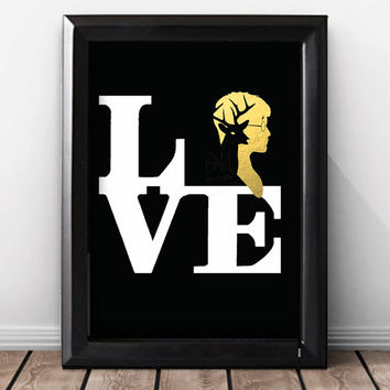 Gold Foil Print Harry Potter Wall Art Print, Harry Potter Wedding Gift, Harry Potter Movie Lover, Harry Potter Book Lover Gift, Poster.
