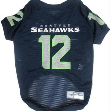 spbest Seattle Seahawks '12th Man' Pet Jersey