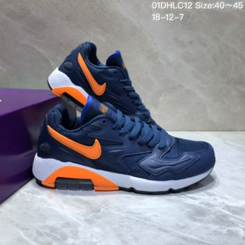 KUYOU N858 Nike Air Max 2 Light New Cushion Casual Running Shoes Blue Orange