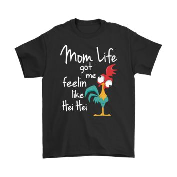 QIYIF Mom Life Got Me Feeling Like Hei Hei Moana Disney Full Color Shirts