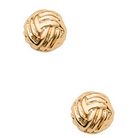 Kate Spade Knotted Rope Studs Gold ONE