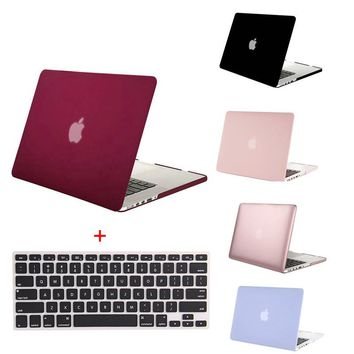 MOSISO Clear Matte Plastic Hard Case Cover for Apple Macbook Pro 13 Retina Pro 15 12 Retina Laptop Shell Cover+Keyboard Cover
