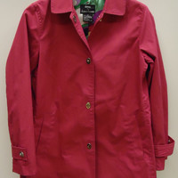 Dennis Basso Raincoat Cotton Female Adult XS Magenta Solid 40-211-14db -- Preowned