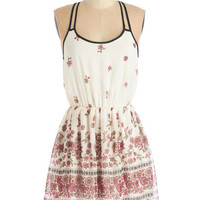 ModCloth Short Length Spaghetti Straps A-line Bake it Work! Dress
