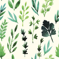 Herb Garden Removable Wallpaper