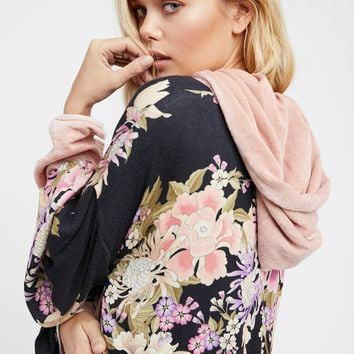 Free People Blue Skies Luxe Reversible Kimono