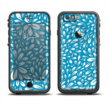 The Light Blue & White Floral Sprout Apple iPhone 6 LifeProof Fre Case Skin Set