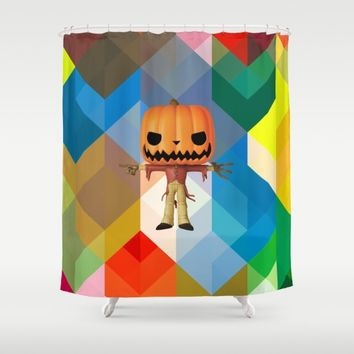 The Lord Disco Halloween Pumpkin | Scary | Fun | Kids Room Project Shower Curtain by Azima