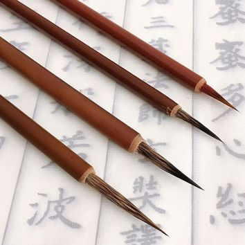 Ink Brush Pen for Chinese Drawing Watercolor Painting Badger Hair Art Craft Gift Brushes Pen brown handle chinese Calligraphy