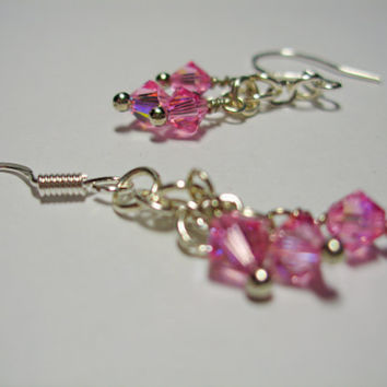 Simply Swarovski Earrings (pinkl)