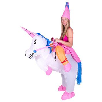 Inflatable Unicorn Costumes Carnaval Princess Outfit Purim Party Fancy Dress Halloween Costumes Women Adult