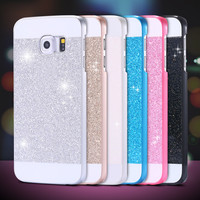 Luxury Bling Glitter Powder Phone Case Cover For Samsung Galaxy S5 I9600 S6 G9200 S6 Edge G9250 Slim Sparkle Protective Shell