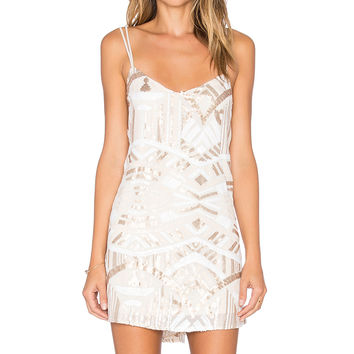 Show Me Your Mumu Criss Cross Applesauce Dress in Crystal Chandelier