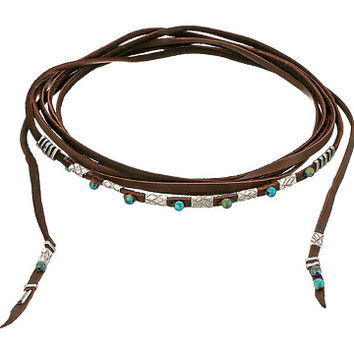 "Chan Luu 18""-32"" Adjustable Multi Strand Leather Choker Turquoise - Zappos.com Free Shipping BOTH Ways"