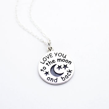 LOVE YOU sterling silver necklace