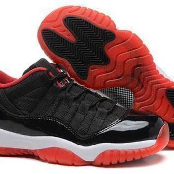 Hot Air Jordan 11 Retro Low GS Women Shoes Bred