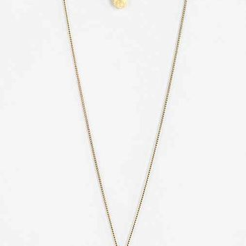 Hammered High/Low Necklace