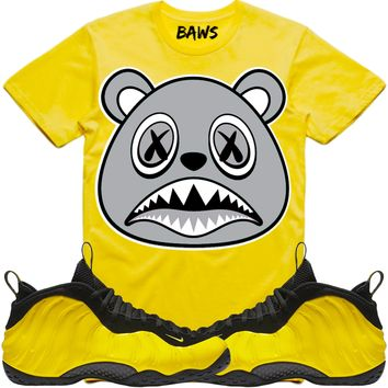 SHADOW BAWS Yellow Shirt - Wu Tang Yellow Foamposites