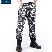 Fashion Brand Cotton Cargo Pant Camo Joggers Mens Outer Wear Pants Hiphop Chino Trousers Skateboard Streetwears Camouflage 216