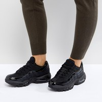 Nike Air Max 95 Trainers In All Black at asos.com