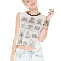 Brandy ♥ Melville |  Agathe Vintage Camera Tank - Graphics
