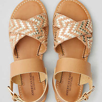 AEO Cross-Strap Sandal, Natural