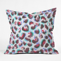 Jacqueline Maldonado Leopard Cool Throw Pillow