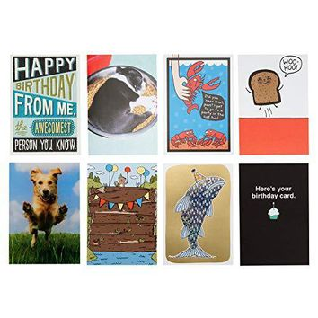 Hallmark 5 Funny Birthday Card Assortment - Free Shipping