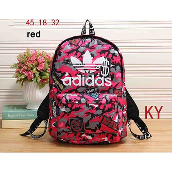 ADIDAS 2018 new men and women wild fashion high quality backpack F-KR-PJ Red