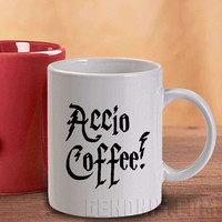ACCIO COFFEE Harry Potter Quote Mug And Cup / Custom Mug / Custom Cup
