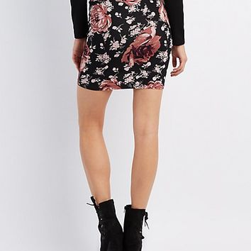 Floral Bodycon Mini Skirt | Charlotte Russe