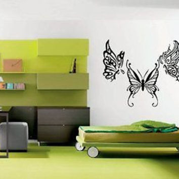 Flowered Butterfly Tattoo Modern House Bedroom Decor Sticker decal Ar1263