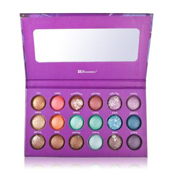 Authentic BH Cosmetics 18 Color Baked Eyeshadow Palette Galaxy Chic