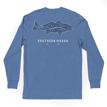 Long Sleeve Delta Fish Tee by Southern Marsh