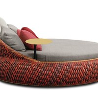 Garden bed with casters DALA Loveseat Dala Collection by Dedon | design Daniel Pouzet