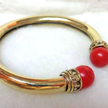 bangle,bracelet, coral stone,Tribal bangle, gypsy style bangle,bracelet, ,indian jewelry,indian hand bracelet,spicy look,brass metal