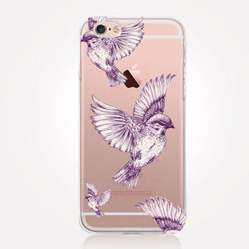 Transparent Birds iPhone Case - Transparent Case - Clear Case - Transparent iPhone 6 - Transparent iPhone 5 - Transparent iPhone 4